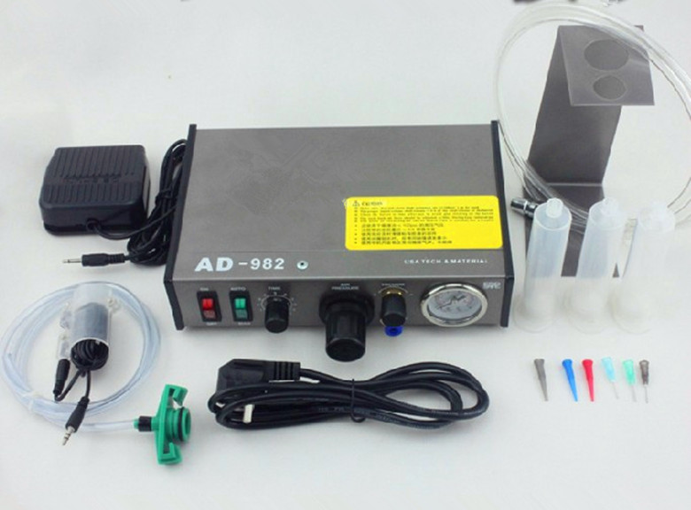 все цены на 220V AD-982 Semi-Auto Glue Dispenser PCB Solder Paste Liquid Controller Dropper Fluid dispenser онлайн