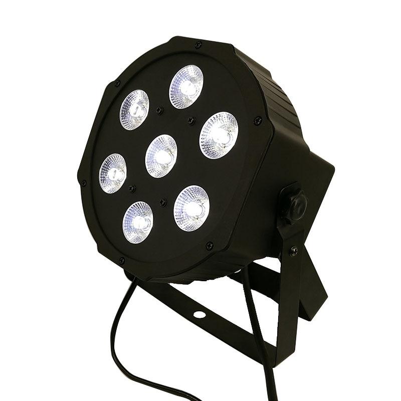 10pcs/lot LED Flat Par 7x3W White Color Stage Lighting Business Lights High Power Light Professional for Party KTV Disco DJ