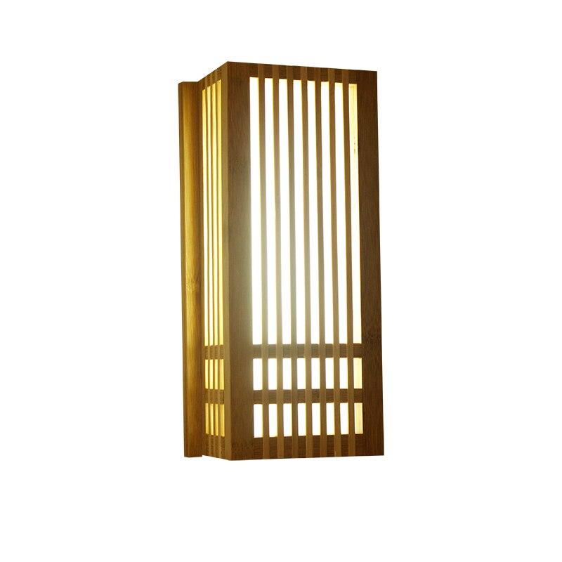 Handmade Chinese Corridor Bamboo Led Wall Lights Creative Japanese