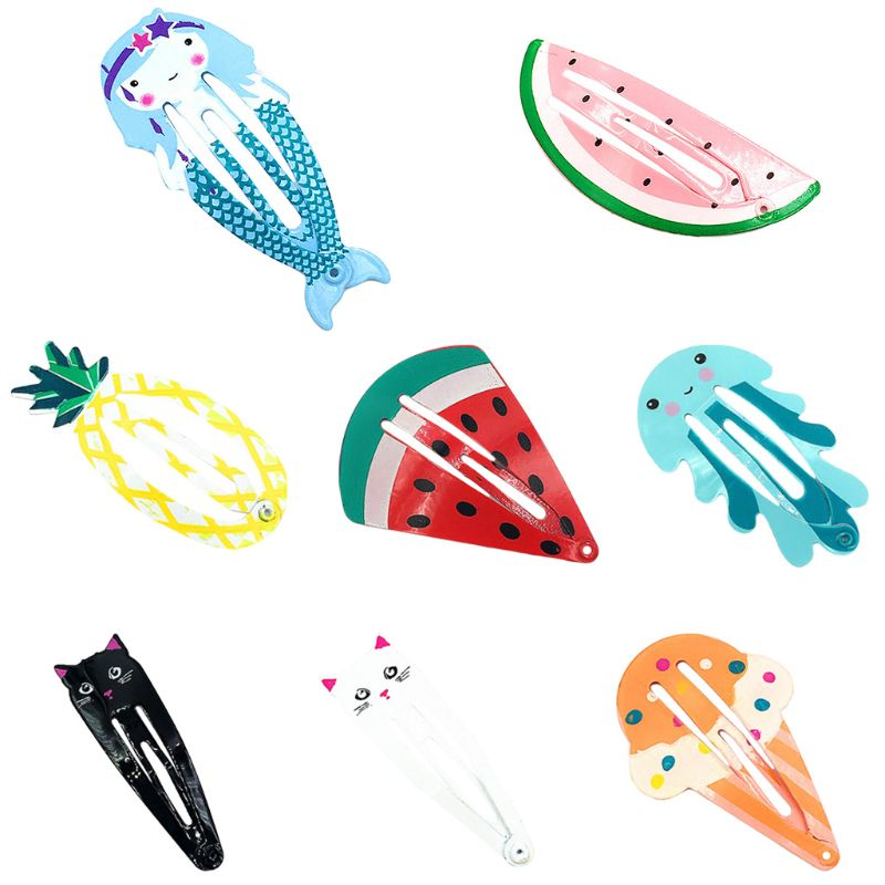 1Pc Children Girl Metal Alloy Cartoon Fruit BB Hair Clips Snap Hairpin in Hair Pin from Mother Kids