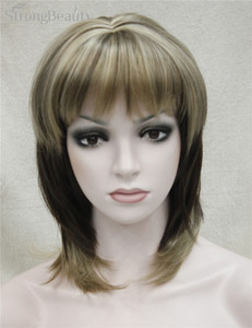 Image 4 - Strong Beauty Synthetic Wigs Medium Long Straight Ombre Womens Wig With Bangs