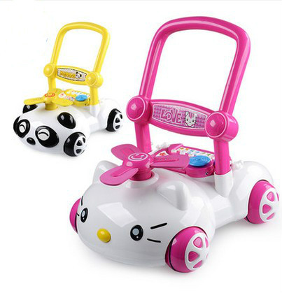 Baby walkers trolley music speed drop side step infant children help multi-functional toys