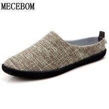 Los nuevos hombres del verano zapatos de cáñamo de calidad mocasines slip on zapatos de lona transpirable zapatos de hombre negro zapatillas sapato masculino tamaño 39-45 699 m