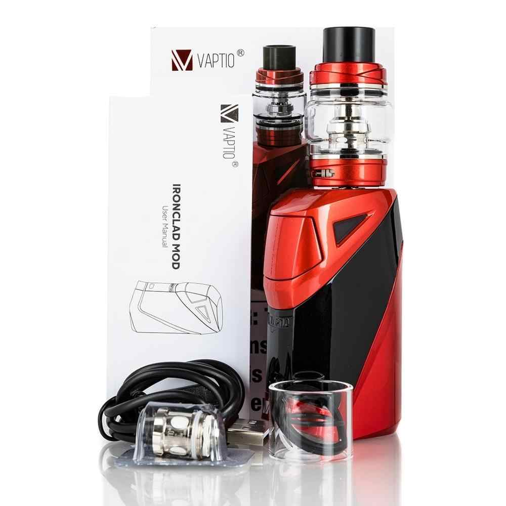 Original vaper Kit 2600mah caja mod Vaptio irrefutable E Starter Kit de cigarrillo 50W vaporizador vape kit con tanque de 6,0 ml atomizador
