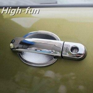Хромированная крышка дверной ручки для Nissan Versa / Tiida / Nissan Laptop / Latio 2006 -2011 Nissan CUBE Z11 2002 - 2008 + отделка чашки
