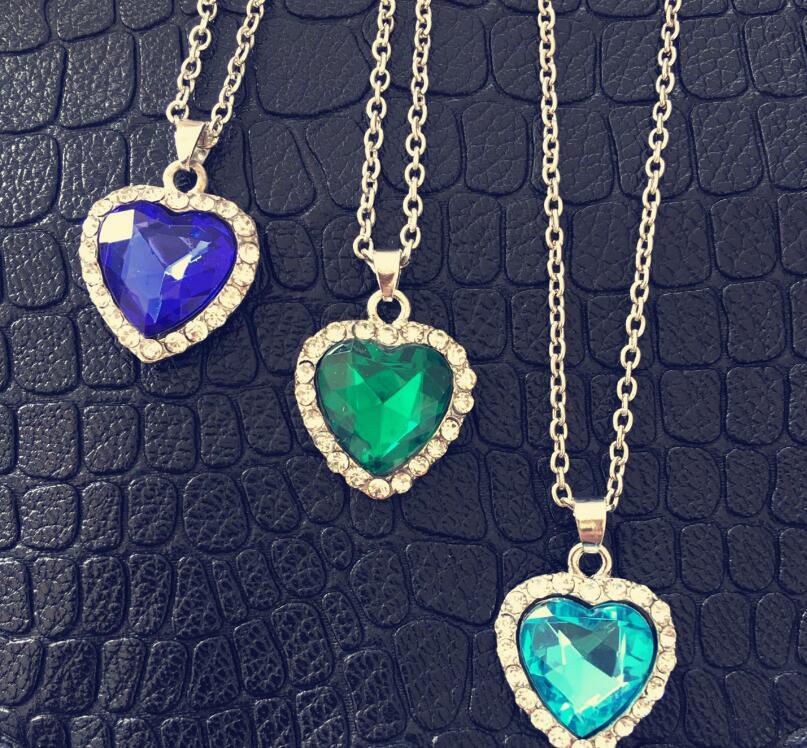 Anenjery Classic Κολιέ Zircon Γυαλί Ωκεανό - Κοσμήματα μόδας - Φωτογραφία 2