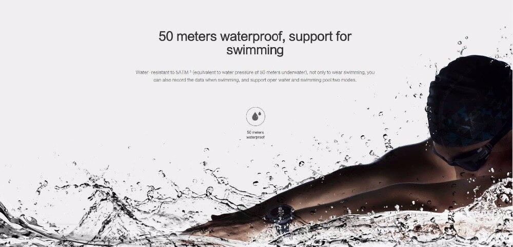 Nouvelle montre de sport intelligente Huami Amazfit Stratos 2 5ATM résistant à l'eau 1.34 '2.5d écran GPS première montre intelligente de natation - 3