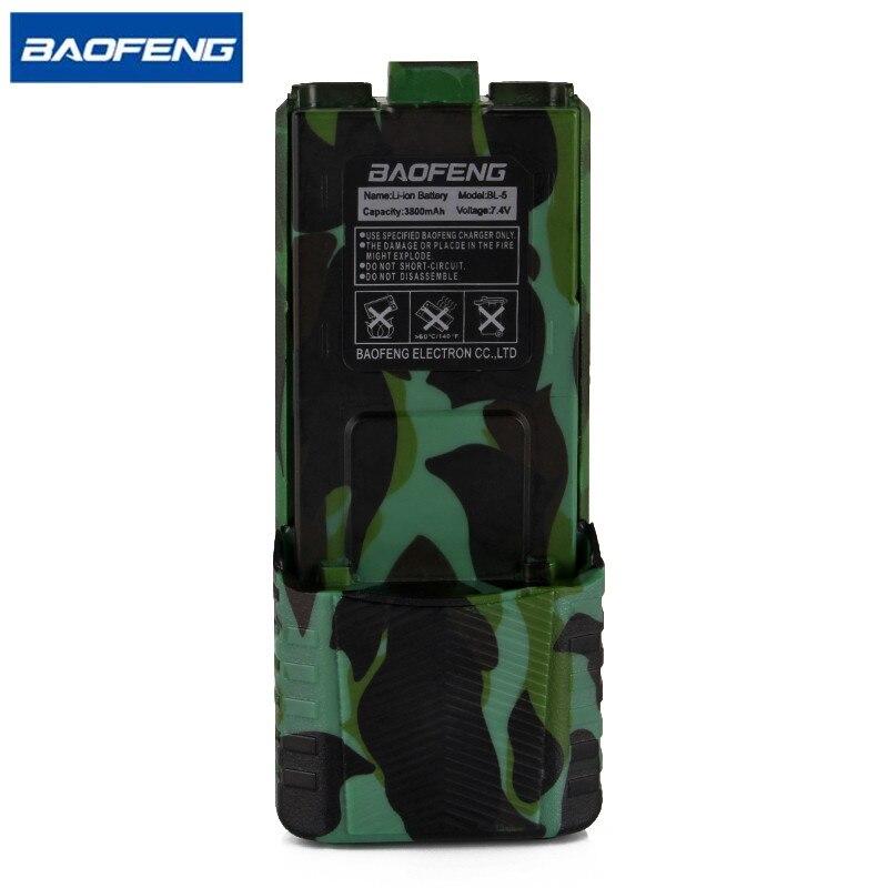 Baofeng uv-5r camouflage talkie walkie batterie bl-5 étendue 3800 mah 7.4 v li ion batterie rechargeable batterie pour bf-f8 radio