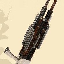 Китайский традиционный музыкальный инструмент BAMBOO SHENG древняя герконовая трубка инструмент ветра sheng D Тон 14/17 ключ sheng