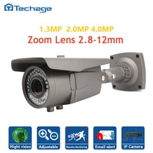 Techage mini sony imx322 cctv ip cámara lente varifocal 2.8-12mm zoom ir impermeable onvif p2p ipc de la seguridad casera cámara de vigilancia