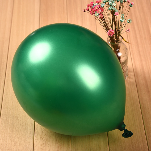 12inch 3 2g Pearl Light Balloon Festival Christmas Decoration Balloons Latex Round Inflatable Dark Green Color