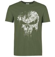 2016 Summer New Casual Punisher Skull Marvel T Shirts For Man Streetwear Hip Hop Comics Supper
