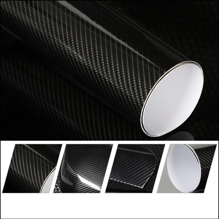 50*200cm DIY Car Styling High Glossy 5D Carbon Fiber Vinyl Wrap Film Motorcyle Automobiles Car Sticker And Decals Accessories