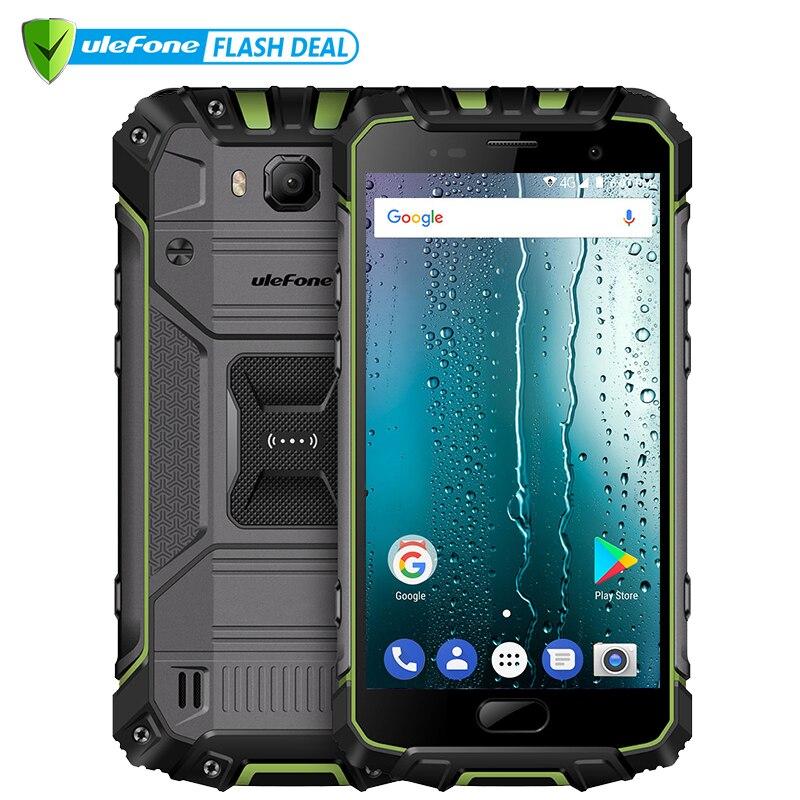 Ulefone Armor 2S Водонепроницаемый IP68 NFC мобильный телефон 5.0 FHD mtk6737t 4 ядра Android 7.0 2 ГБ + 16 ГБ 4G Глобальная Версия смартфон