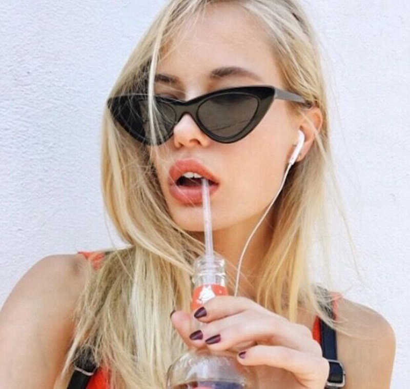 240f5192600 ... 16 Colors Red sunglasses Cat Eye transparent clear Lens Vintage 90s  Glasses for womens popular Luxe ...
