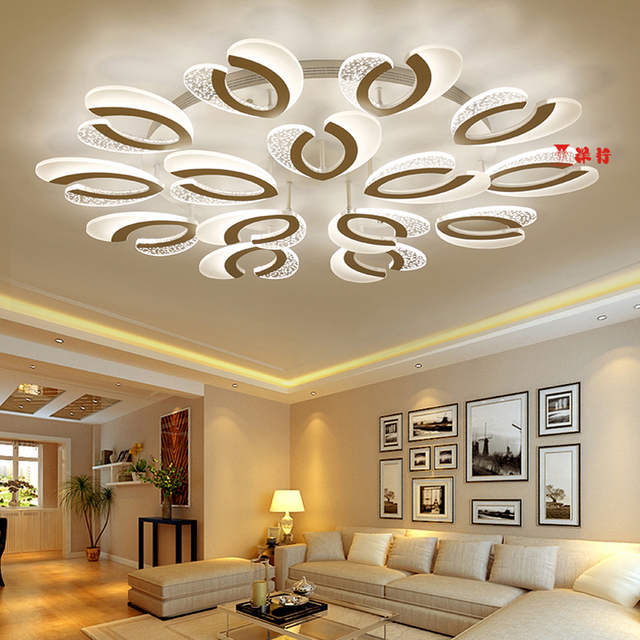 New Design Acrylic Modern Led Ceiling Lights For Living Study Room