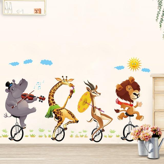 Joli Motif Animal Bébé Chambre Stickers Muraux Enfants Chambre Garçon/fille  Chambre Stickers Muraux Affiche