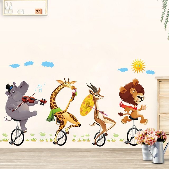 Schöne Tier Muster Baby Zimmer Wandaufkleber Kinderzimmer Junge/Mädchen  Schlafzimmer Wandtattoos Poster 60x90 Cm CP1695