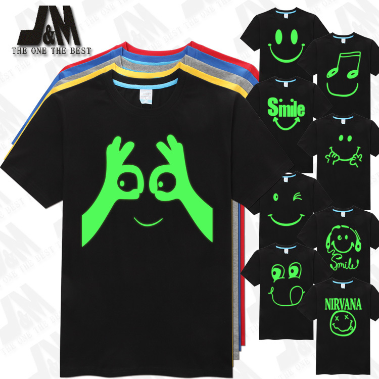 smile face men top t shirt nirvana smiley face t shirt