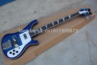 Free Shipping Best Brand Classic Bases Guitar RICKEDBACKER Blue Original Accessories 22 Fret Electric Bass Guitar