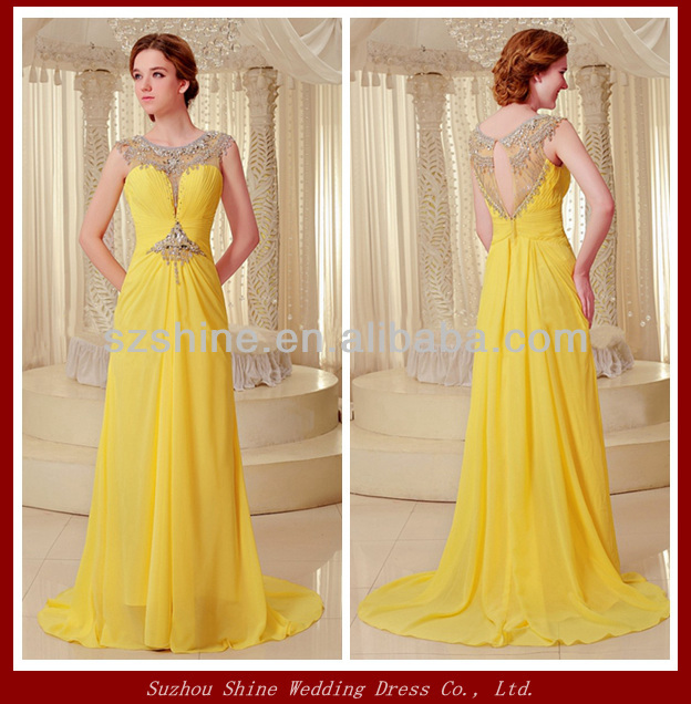 YED11097 Elegant Chiffon Zuhair Evening Dresses Party Long Evening ...