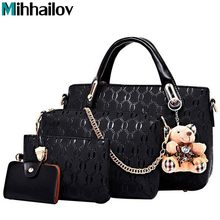 Famous Brand Female Classic England Handbags High Quality Female Leather Shoulder Bag 4Pcs Set CrossBody Bags For Lady KY-577