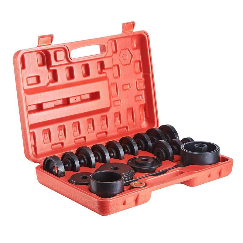 23-Piece FWD Front Wheel Drive Bearing Adapters Puller Press Replacement Installer Removal Tool Kit 1 pc front hub bearing installer puller tool universal fwd front weel drive duck puller hub puller car wheel repairing kit