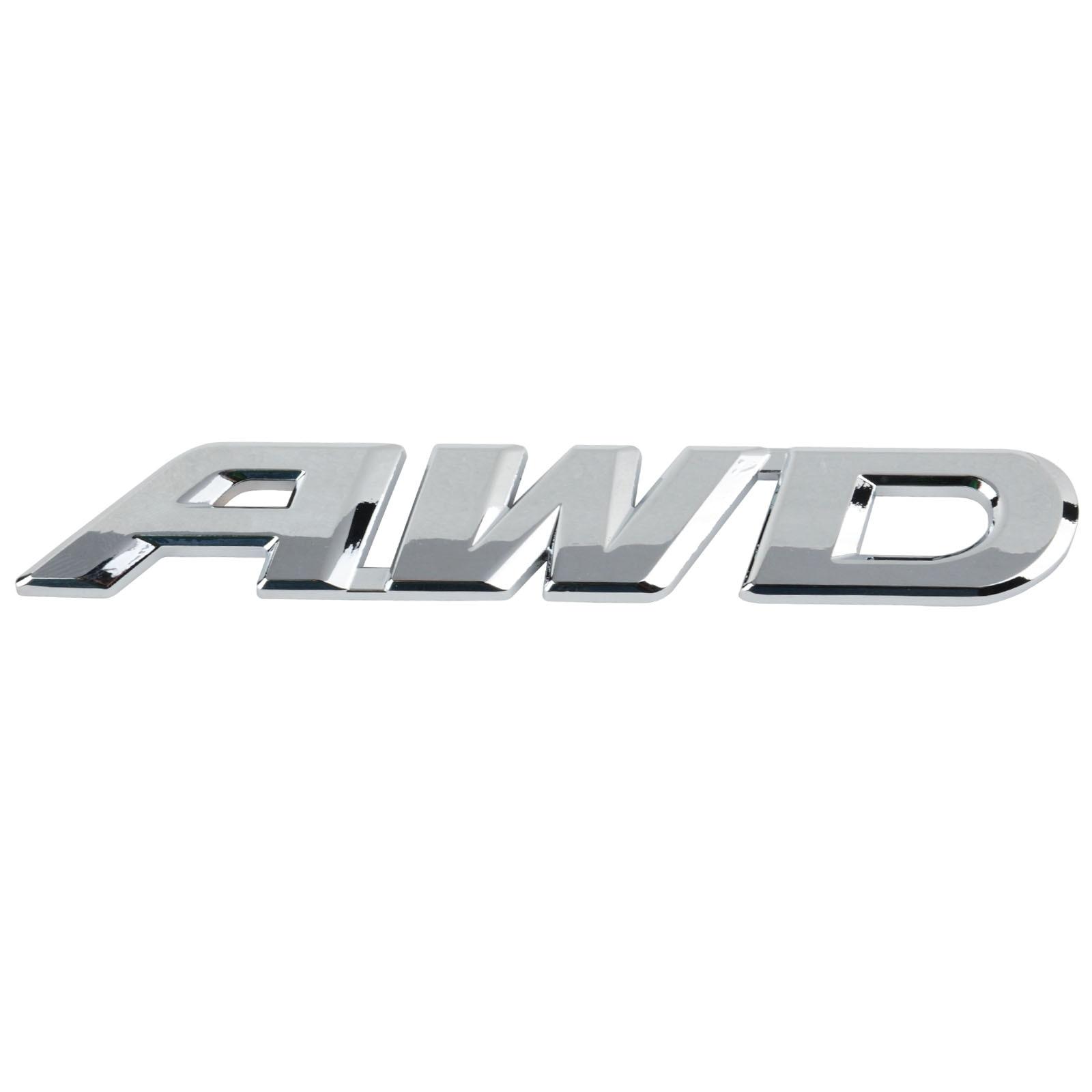 2018 V6+V8+4WD Car Chrome Plated ABS Silver 3D Decal Badge Emblem Sticker Auto