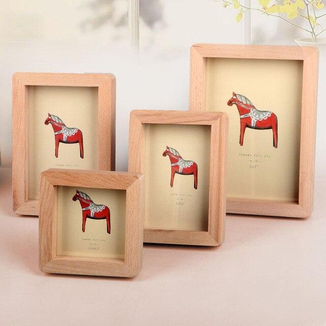 Vintage Wood photo Frames for pictures Rectangle Desktop Home ...