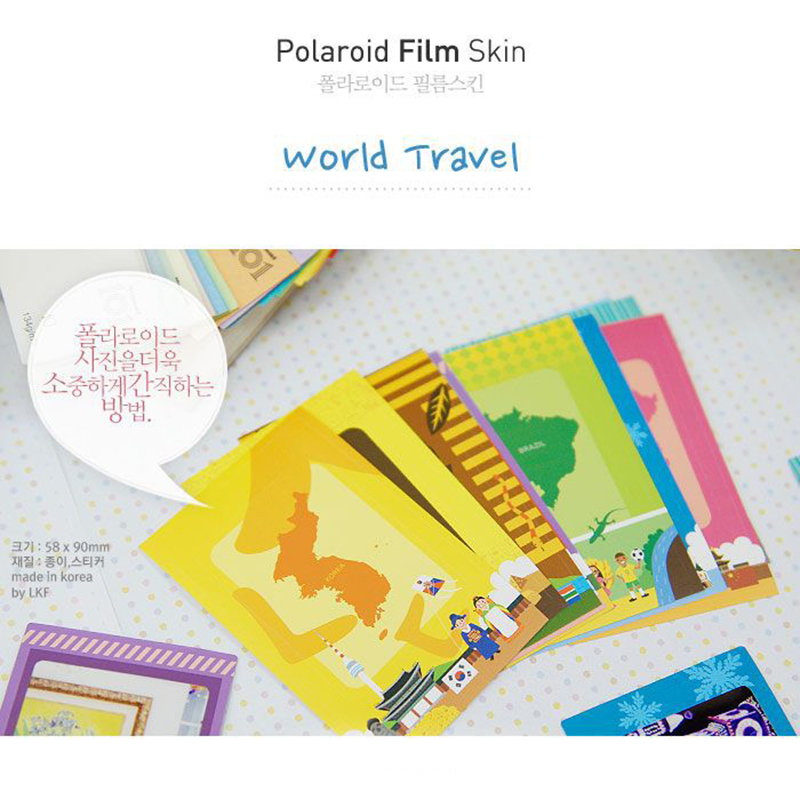 Colorido foto pegatina colorido Polaroid Películas piel papel ...
