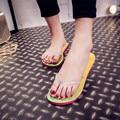 Новый Флуоресцентный Свет Флип-флоп Женщин Тапочки для Красочные Летняя Женщина Сандалии Пляжная Обувь Без СВЕТОДИОДНЫЕ Фонари Обувь Женщина