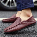 Primavera Otoño Hombres Zapatos Casuales Nuevo 2016 Mens de La Manera Zapatos de Cuero de LA PU Pisos Hombres Mocasines Mocasines Zapatos Masculinos Zapatos A167