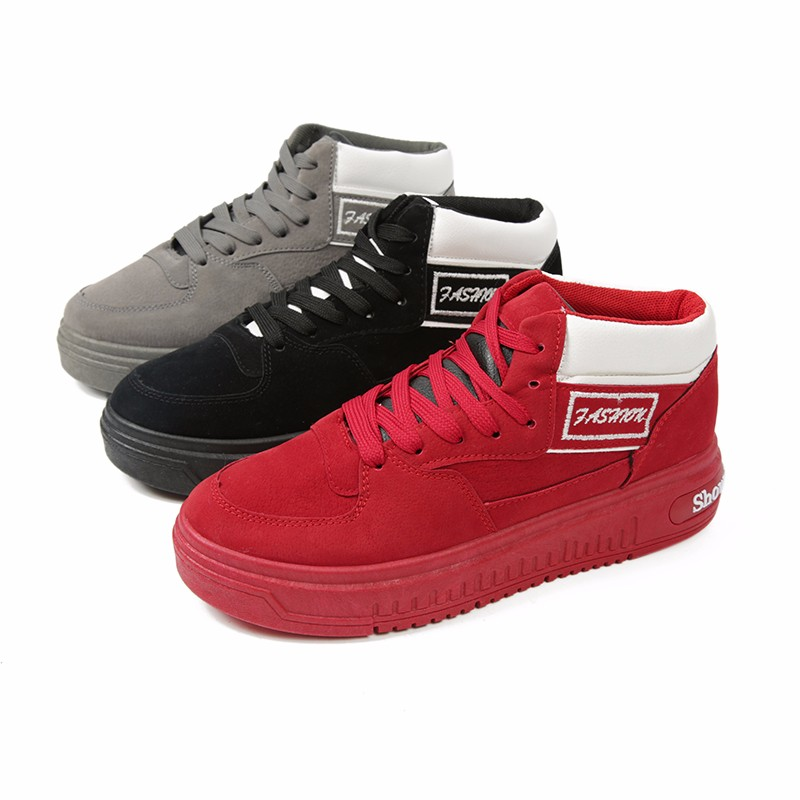 Casual Women Shoes Lace Up Breathable Platform High Top Casual Shoes KUYUPP 2016 Spring Autumn Fashion Lace Up Skate Shoes YD158 (10)