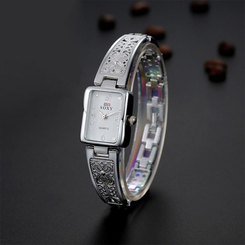Exquisite Stainless Steel Watches Women Top Brand Luxury Casual montre femme Clock Ladies Wrist Watch Lady Relogio Feminino #C