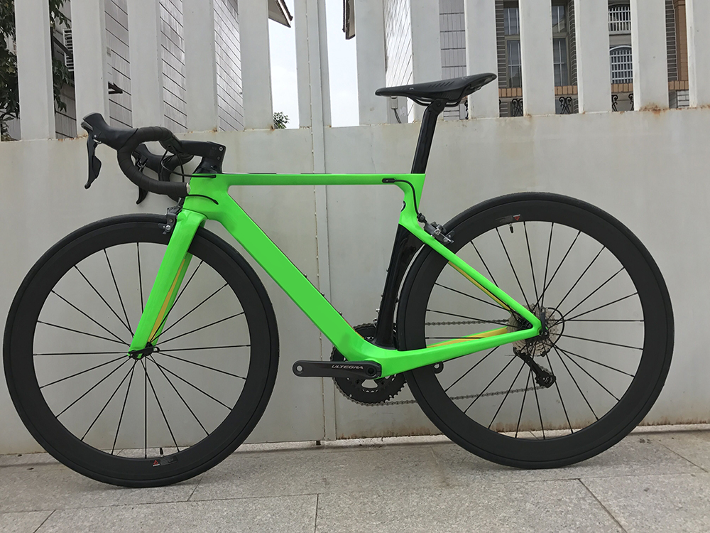 2018 carbon road bike complete bicycle carbon BICICLETTA bicycle with bike group R8000 5800 carbon 50mm clincher