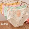 2016 New Arrival Sexy Cotton High Waist Women Panties Lingerie Underwear Women Panties Ladies Briefs Plus Size M-XXL 3NK088