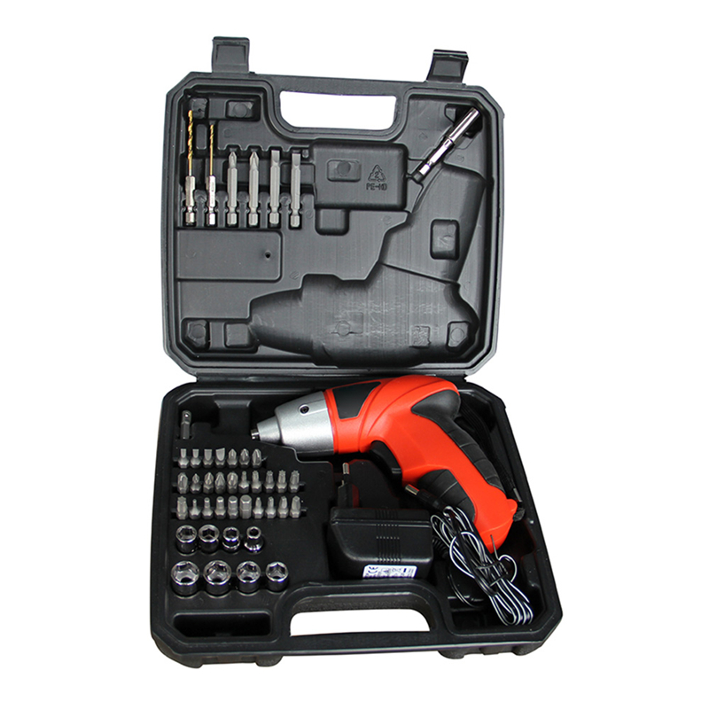 European Standard Household Type Rechargeable Drill Dual-use Electric Screwdriver Drill Bit 8/45 Pcs/set Electric repair Tools free shipping brand proskit upt 32007d frequency modulated electric screwdriver 2 electric screwdriver bit 900 1300rpm tools