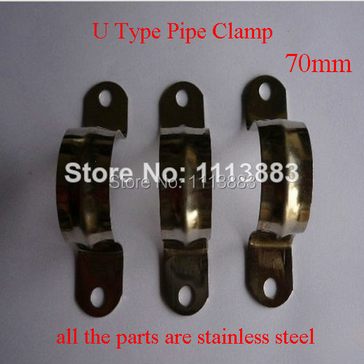 70mm Stainless Steel Saddle Clips Hose Pipe Clamps In Clamps From