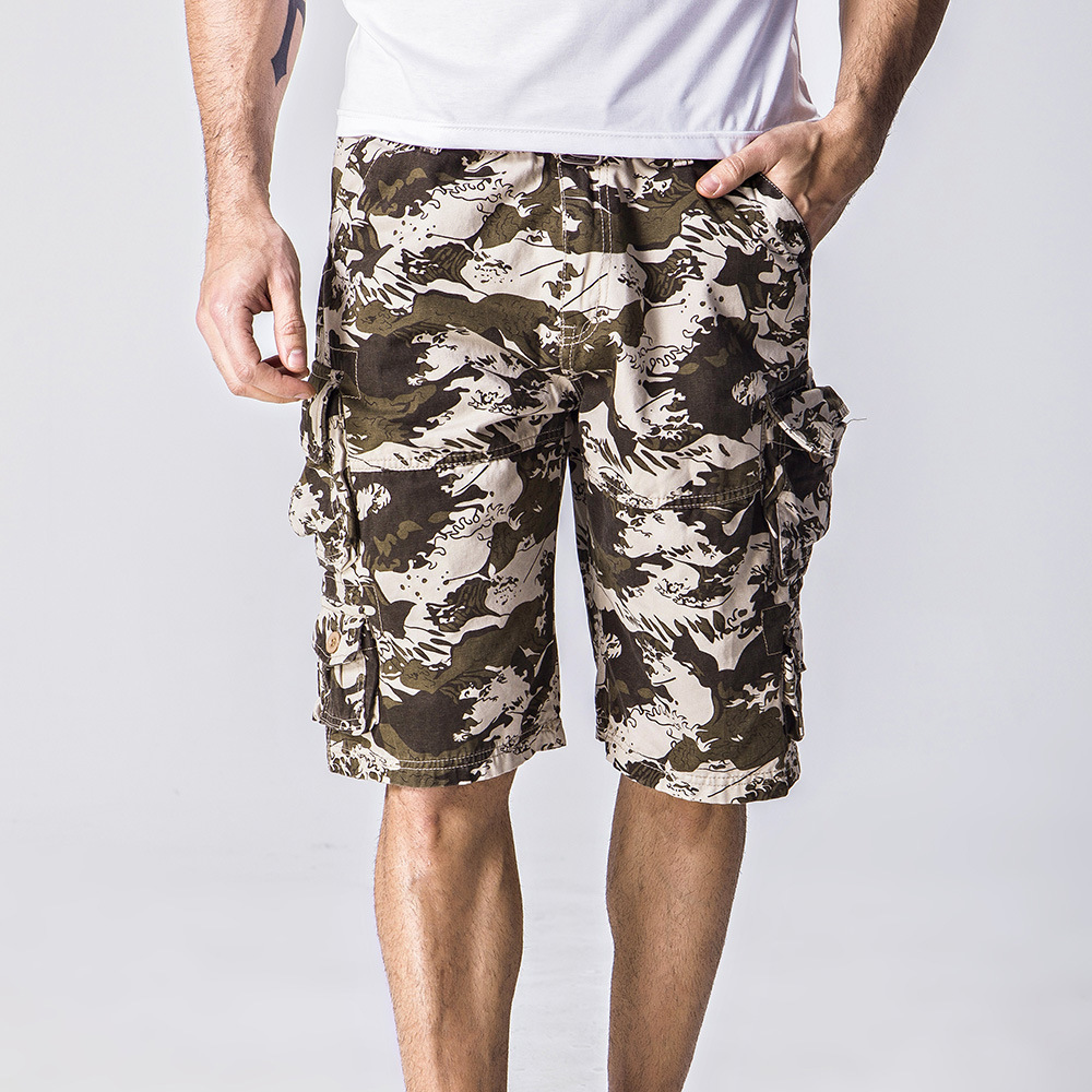 MIXCUBIC 2018 summer cool Water waves camouflage Cargo