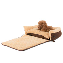 Soft Fleece Bed with Cushion