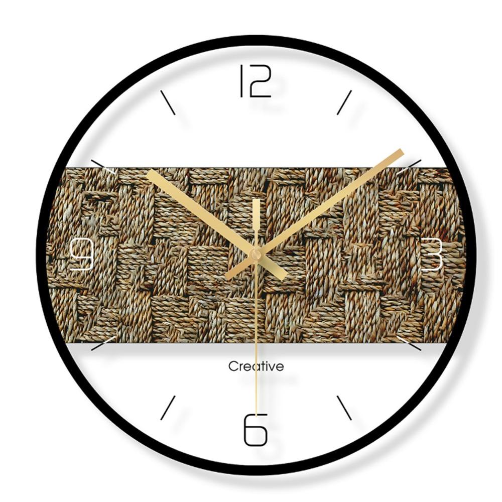 שעון קיר בשילוב פלטת עץ 6