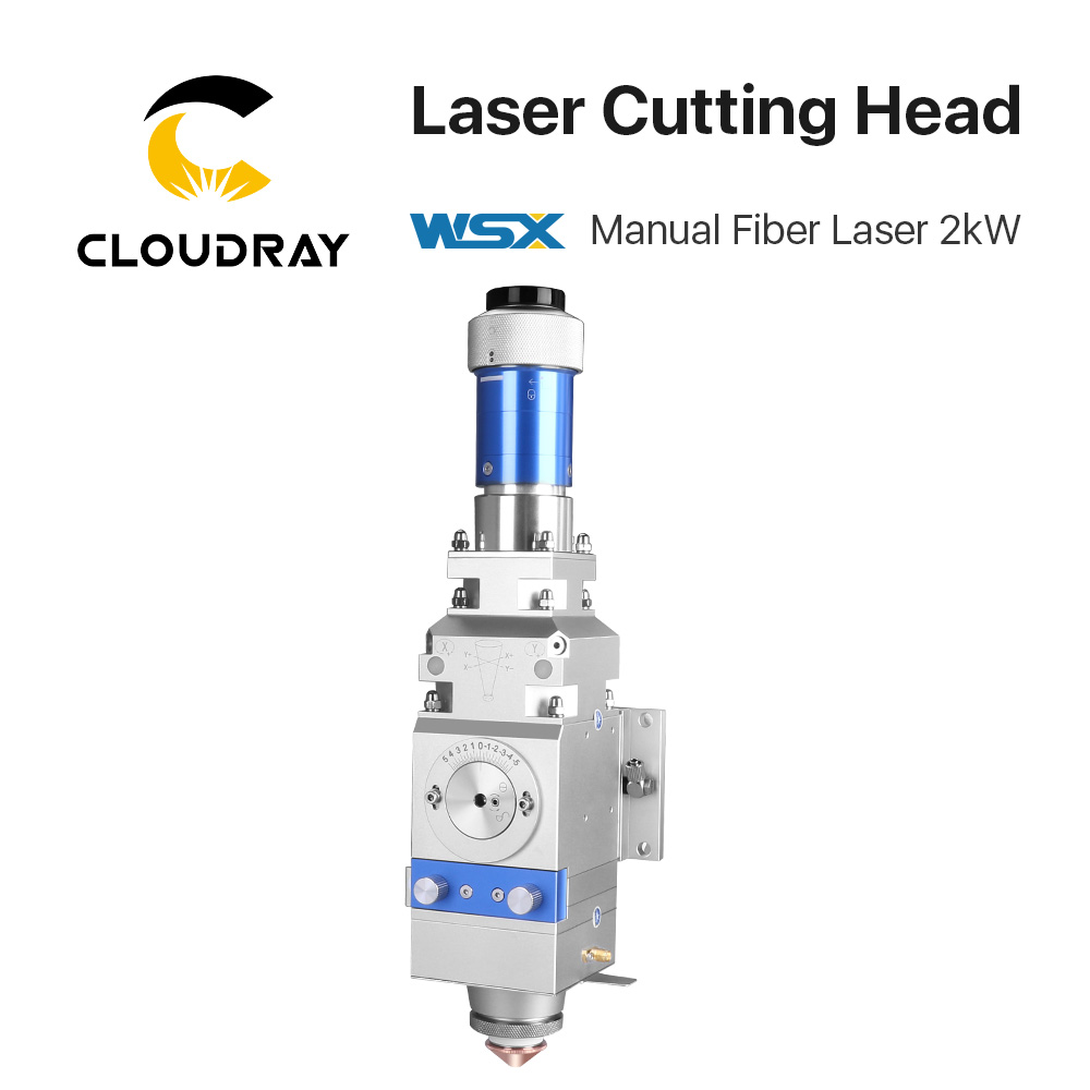Cloudray WSX 0-2kw Fiber Laser Cutting Head KC13 Manual Cutting Head 2000W For Metal Cutting