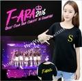 T-ARA 2016 Shanghai concert surrounding plain Yan Zhi min Yanxiao support with men and women T-shirt cotton