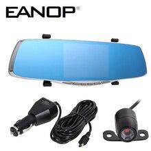 EANOP 5″ Mirror Car Camera  1080P HD Dual Lens Car Vehicle DVR Camera Video Recorder Rearview Camera Mirror Dash Cam