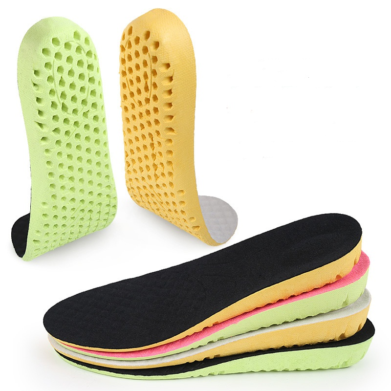 Height Increase Insole Honeycomb Shock Absorbing Insoles Breathable Shoe Pad Cushion Shoe Inserts Accessoire Chaussure 1.5 ~ 3cm