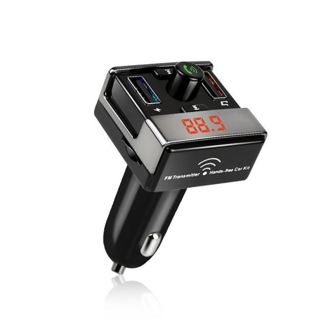 Digital de la Exhibición Del Coche Bluetooth Mp3 Reproductor de Música Inalámbrico de Manos Libres Kit de Coche Transmisor FM Reproductor de MP3 USB TF