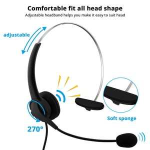 Image 2 - USB Earphones Handsfree Headphones With Mic Headset Noise Cancelling Adjustable Call For Gaming headset Computer Business Gamer