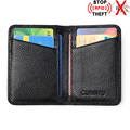 RFID Genuine Leather Men Card Holder Wallets High Quality RFID Protection Credit Card Holders With Coin Pocket Purse FrontPocket