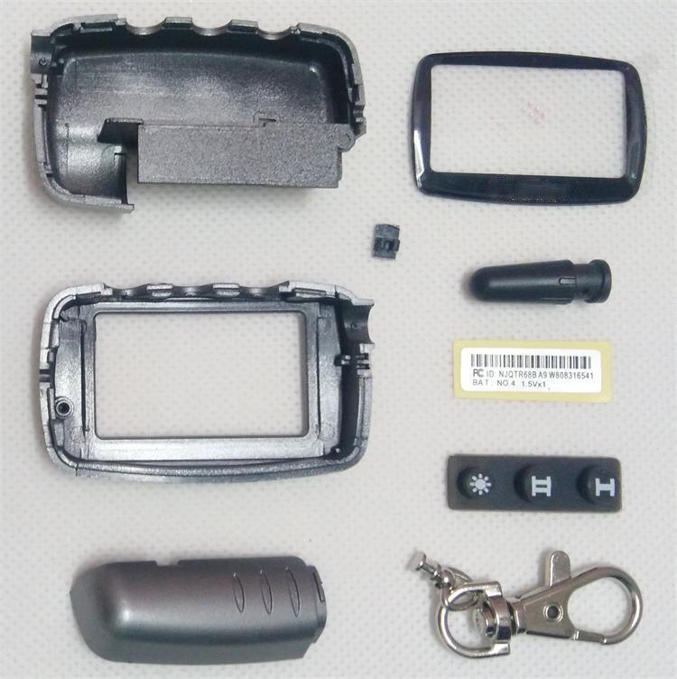Case Keychain Housing Body. for 2 way Car alarm System LCD Remote Control Key Fob Chain Starline A9/A6/A8/A4