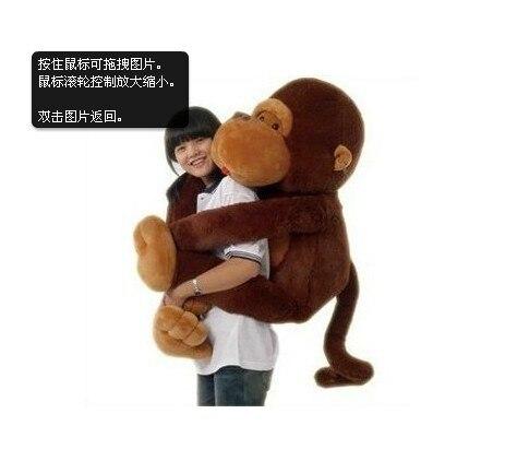 big lovely plush monkey toy stuffed long arms monkey doll brown monkey doll gift doll about 110cm 0126 футболка toy machine leopard brown